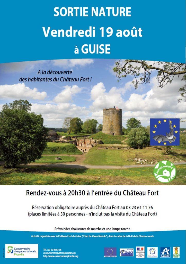 Communiqué presse, nuit chauve-souris, Château Fort de Guise